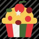 beverage, cake, cupcake, dessert, food icon