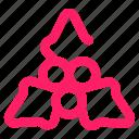 bulb, decoration, fir, lamp, leaf icon