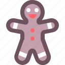 christmas, cookie, gingerbread, holiday, man, sweet, xmas icon