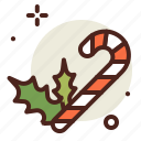 candy, cane, christianity, holidays, winter icon