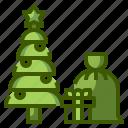 christmas, santa, gift, tree, xmas