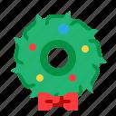 xmas, festive, christmas, wreaths, gift icon