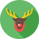 christmas, reindeer, rickshaw, snow, tree, winter icon
