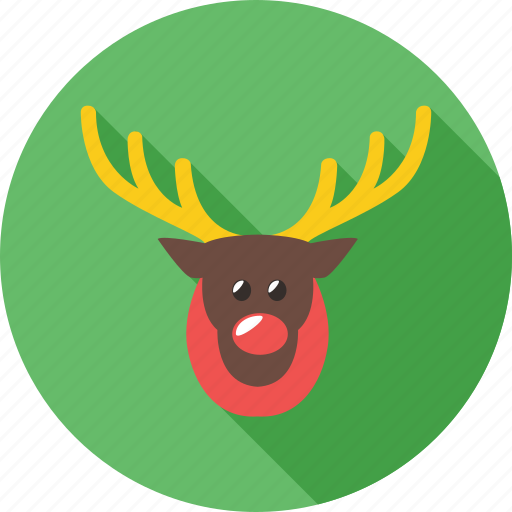 christmas, reindeer, rickshaw, snow, tree, winter icon