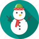 christmas, gift, snow, snowflake, snowman, winter icon