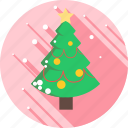 christmas, decoration, snow, snowflake, tree, winter icon