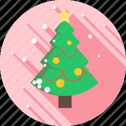 christmas, decoration, snow, snowflake, tree, winter icon