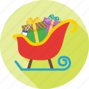 celebration, christmas, decoration, sleigh, snow icon