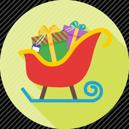 celebration, christmas, decoration, sleigh, snow icon