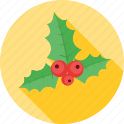 celebration, christmas, decoration, mistletoe, snow, tree icon
