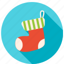 award, christmas, decoration, gift, socks, winter icon