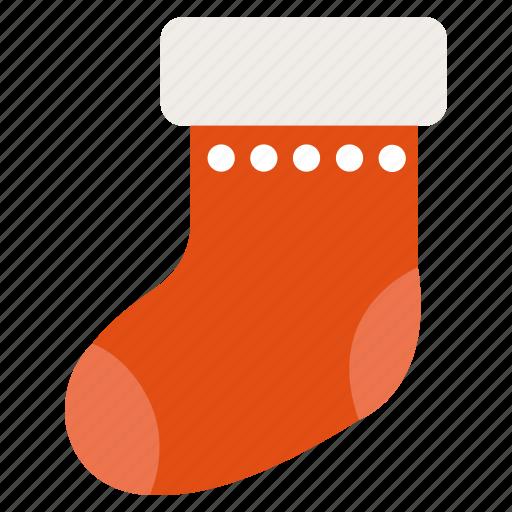 christmas, decoration, gift, holiday, present, sock, x-mas icon