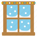 christmas, cold, decoration, santa, snow, window, x-mas icon