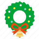 christmas, garland, greeting, mistletoe, snow, winter, wreath icon