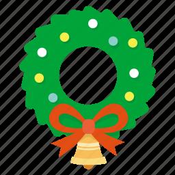christmas, garland, greeting, mistletoe, snow, winter, wreath icon