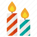 candle, christmas, light, new year, winter icon