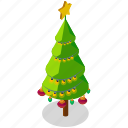 christmas, decoration, ornaments, star, tree icon