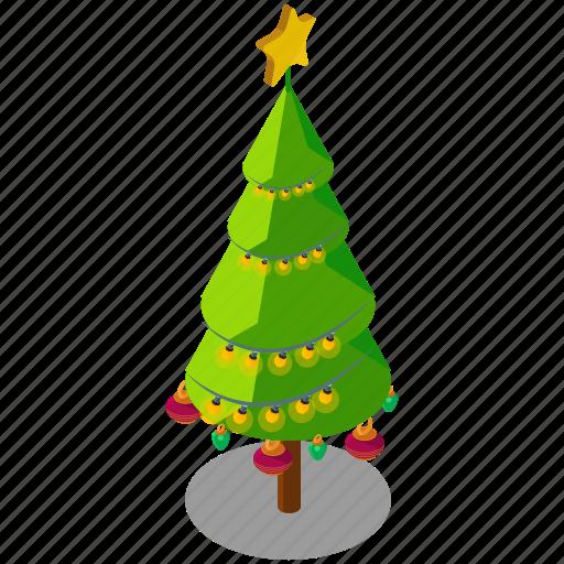 christmas, decoration, ornaments, star, tree icon