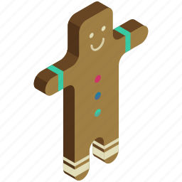 christmas, cookie, gingerbread, man, snack, sweet icon