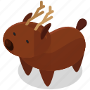 animal, antlers, christmas, deer, rheindeer icon