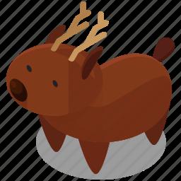 animal, antlers, christmas, deer, rheindeer icon