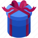 box, christmas, gift, package, present, rounded icon