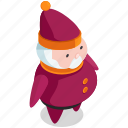 christmas, claus, costume, man, santa icon