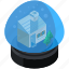 christmas, decoration, house, snow, snowglobe icon