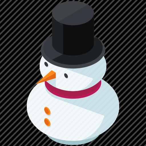 christmas, hat, man, snow, snowman icon