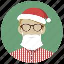 christmas, holiday, mask, santa, winter, xmas icon