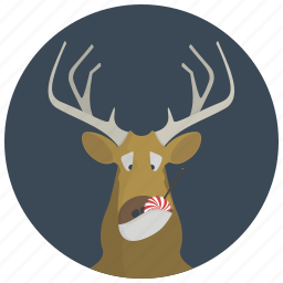 candy, deer, elk, horns, lollipop, reindeer, winter icon
