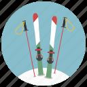 christmas, holiday, mountain, skiing, skis, winter, xmas icon