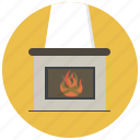 christmas, fire, fireplace, heat, holiday, rair, winter icon