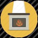 christmas, fire, fireplace, heat, holiday, rair, winter icon