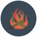 bonfire, camp fire, campfire, camping, fire, heat, winter icon