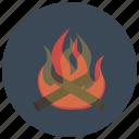 bonfire, camp fire, campfire, camping, fire, heat, winter icon