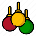 accessories, balls, christmas, lamps icon