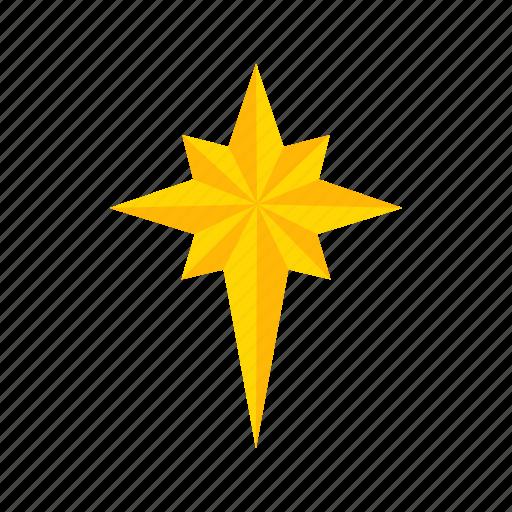 decoration, light, north star, star icon