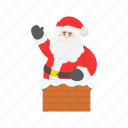 chimney, christmas, santa, santa claus icon