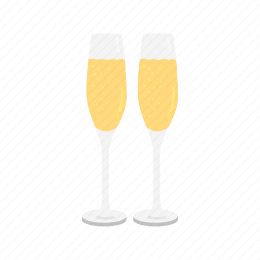 champagne, white wine, wine, wine glass icon