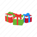 christmas, gifts, presents, ribbon icon