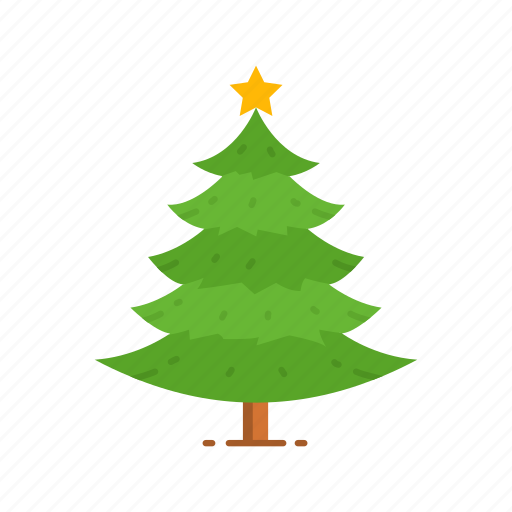 Christmas Tree Facebook Icon: Christmas Tree, Decoration, Pine Tree, Tree Icon