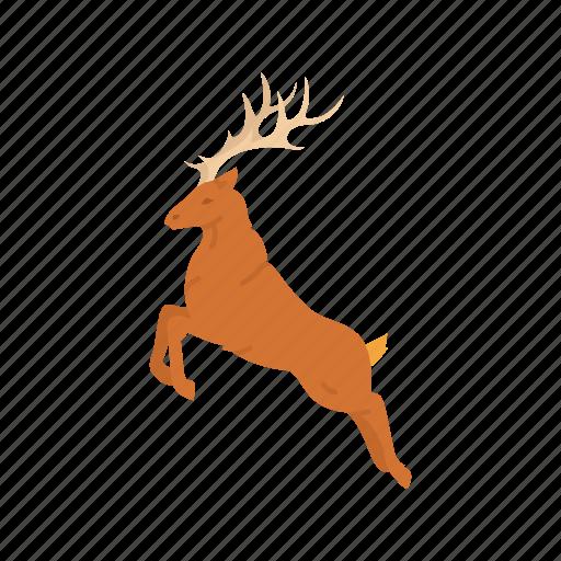 antlers, deer, reindeer, rudolph icon