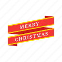 banner, christmas, merry christmas, winter icon