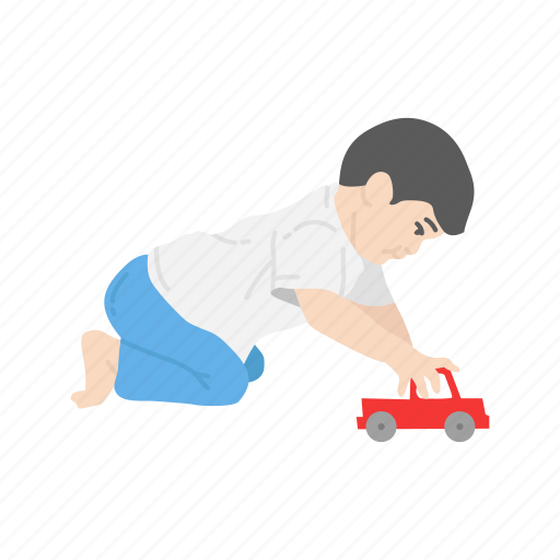 boy, gifts, kid, playing icon