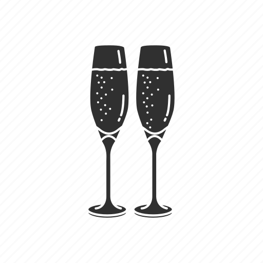 champagne, party, sparkling wine, wine glass icon