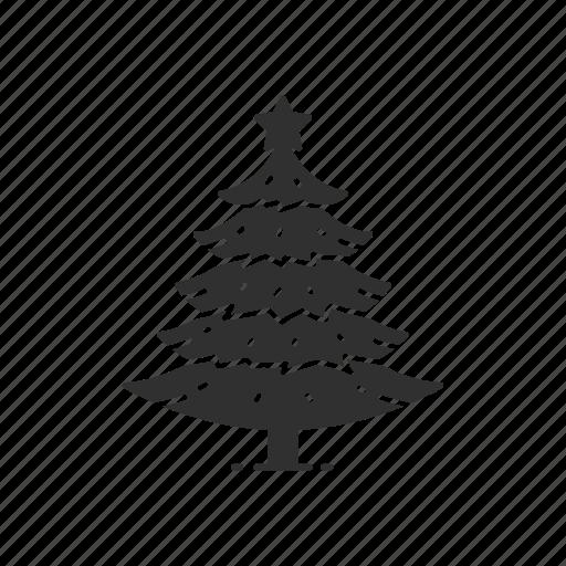 christmas, christmas tree, decoration, pine tree icon