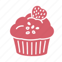 birthday, cake, celebration, cupcake, frosting, muffin, party