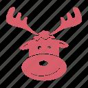 deer, gift, los, reindeer, rudolf, santa, santa claus icon