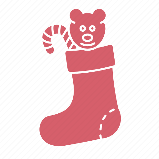 christmas, gift, new year, present, santa claus, sock, winter icon